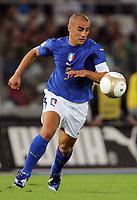 "Fabio Cannavaro (Italy)<br /> Qualify of European Football 2008 <br /> 07 October 2006<br /> Italy-Ucraine 2-0<br /> ""Olympic"" Stadium-Rome-Italy<br /> Photographer Luca Pagliaricci INSIDE"