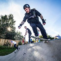Tony Lawrence, skateboarding cop