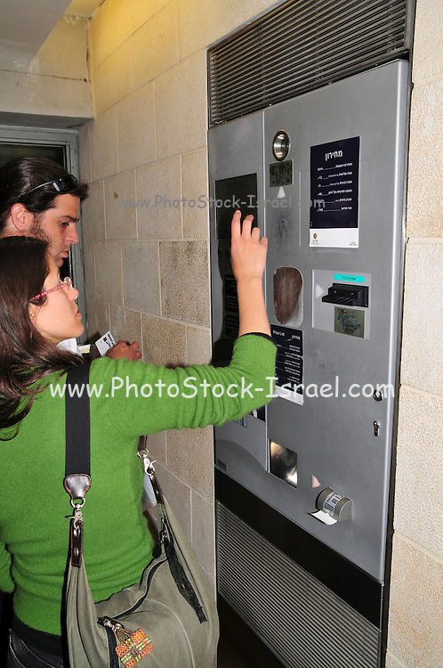 Israel, Jerusalem Automatic parking payment