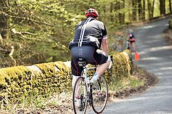 Man cycling, Yorkshire UK