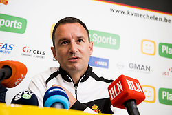 November 2, 2017 - Mechelen, BELGIUM - Mechelen's new head coach Aleksandar Jankovic pictured during a press conference of Belgian first division soccer team KV Mechelen, in Mechelen, Thursday 02 November 2017, to present their new head coach. Last week the club dismissed coach Ferrera and appointed Serbian Jankovic for a second stint, he already coached the club from May 2014 to September 2016. BELGA PHOTO JASPER JACOBS (Credit Image: © Jasper Jacobs/Belga via ZUMA Press)