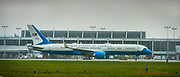 Air Force One lands at Lehigh Valley International Airport on Monday, October 26, 2020 bringing President Donald Trump to a rally at HoverTech in Hanover Township, Northampton County.