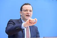 12 FEB 2021, BERLIN/GERMANY:<br /> Jens Spahn, CDU, Bundesgesundheitsminister, Pressekonferenz zur Corona-Lage im Lockdown, Bundespressekonferenz<br /> IMAGE: 20210212-01-019<br /> KEYWORDS: Corvid-19