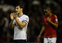 Chris Martin of Derby County (L) looks dejected at the final whistle - Mandatory byline: Jack Phillips / JMP - 07966386802 - 6/11/2015 - FOOTBALL - The City Ground - Nottingham, Nottinghamshire - Nottingham Forest v Derby County - Sky Bet Championship