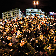 Hundreds of demonstrators protesting against the numerous deshalojos for unpaid mortgages executed by banks and savings