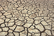Cracked earth due to extreme drought in agricultural field<br />