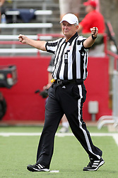 01 September 2012:  Referee Wally Righton during an NCAA football game between the Dayton Flyers and the Illinois State Redbirds at Hancock Stadium in Normal IL