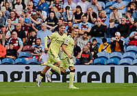 Football - 2021 / 2022 Premier League - Burnley vs. Arsenal<br /> <br /> Martin Odegaard of Arsenal celebrates after he curls a free kick around the Burnley wall to put his team 1-0 ahead in the first half, at Turf Moor.<br /> <br /> <br /> COLORSPORT/ALAN MARTIN