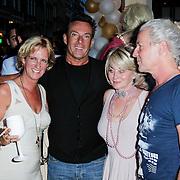 NLD/Amsterdam/20120706 - Verjaardagsfeest Gordon, Gerard Joling met oa Marjan Strijbosch