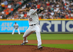 April 30, 2018 - Houston, TX, U.S. - HOUSTON, TX - APRIL 30:  Houston Astros starting pitcher Charlie Morton (50) throws a pitch during the baseball game between the New York Yankees and Houston Astros on April 30, 2018 at Minute Maid Park in Houston, Texas.  (Photo by Leslie Plaza Johnson/Icon Sportswire) (Credit Image: © Leslie Plaza Johnson/Icon SMI via ZUMA Press)
