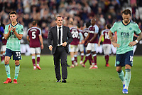 Football - 2021 / 2022 Premier League - West Ham United vs Leicester City - London Stadium - Monday 23rd August 2021<br /> <br /> Leicester City manager Brendan Rodgers at the final whistle.<br /> <br /> COLORSPORT/Ashley Western