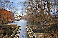 Canal in Bethlehem Pennsylvania along the Lehigh River by Jacqueline Agentis