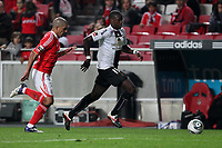 20111029: LISBON, PORTUGAL - SL Benfica vs Olhanense: Portuguese League 2011/2012. <br /> In photo: Olhanense's midfielder Caue Cecilio and Benfica's defense Maxi Pereira.<br /> PHOTO: Carlos Rodrigues/CITYFILES