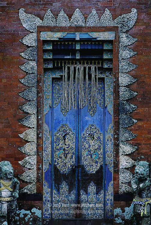 Temple door, Lombok, West Nusa Tenggara, Indonesia.