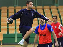Klemen Cehte at practice of Slovenian handball men national team before going to Israel, on October 27, 2008 in Lasko, Slovenia. (Photo by Vid Ponikvar / Sportal Images)