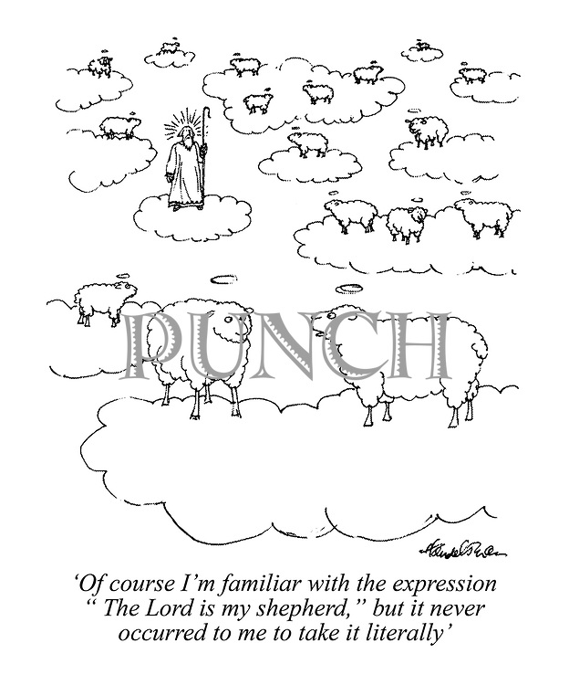 """'Of course I'm familiar with the expression """"The Lord is my shepherd,"""" but it never occurred to me to take it literally'"""