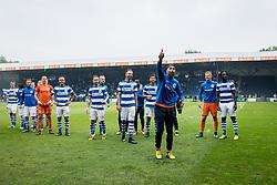 players of De Graafschap, goalkeeper Agil Etemadi of De Graafschap during the Dutch Jupiler League play-offs match between De Graafschap and sc Telstar at the Vijverberg on May 13, 2018 in Doetinchem, The Netherlands
