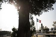 Octobre 2018. Macédoine. Skopje. Sur les traces du Front d'orient en Serbie et en Macédoine. Anniversaire des 100 ans de la fin de la première guerre mondiale 1914-1918. Cimetière français militaire de Skopje.