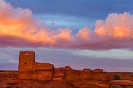 Wupatki National Monument sunset over Wukoki