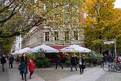 Anna Blume cafe exterior at Kollwitzstrasse in Prenzlauer Berg, Berlin , Germany