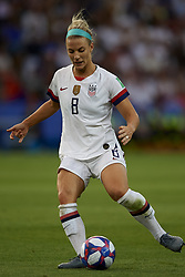 June 28, 2019 - Paris, France - Julie Ertz (Chicago Red Stars) of United States in action during the 2019 FIFA Women's World Cup France Quarter Final match between France and USA at Parc des Princes on June 28, 2019 in Paris, France. (Credit Image: © Jose Breton/NurPhoto via ZUMA Press)