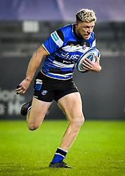 Rhys Priestland of Bath Rugby carries - Mandatory by-line: Andy Watts/JMP - 08/01/2021 - RUGBY - Recreation Ground - Bath, England - Bath Rugby v Wasps - Gallagher Premiership Rugby