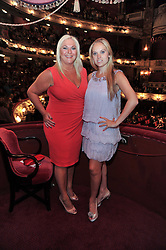 Left to right, VANESSA FELTZ and her daughter ALLEGRA at the Russian Ballet Icons Gala and Dinner - 100 Galina Ulanova held at The London Coliseum (English national Opera) St.Martin's Lane, London on 15th May 2011.
