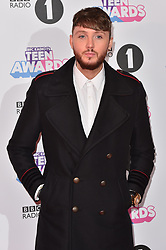 James Arthur attending the BBC Radio 1 Teen Wards, at Wembley Arena, London. Picture date: Sunday October 22nd, 2017. Photo credit should read: Matt Crossick/ EMPICS Entertainment.