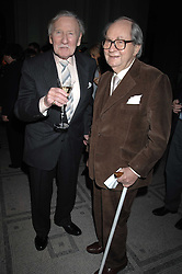 Left to right, actors LESLIE PHILLIPS and PETER SALLIS at the Orion Publishing Groups Authors party held at the V&A museum, Cromwell Road, London on 15th February 2007.<br /><br />NON EXCLUSIVE - WORLD RIGHTS
