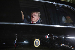 US President Donald J. Trump sits in the presidential limo as he departs the White House for Capitol Hill, where he will deliver his second State of the Union speech, in Washington, DC, USA, 05 February 2019. The speech, which was originally scheduled for January, was delayed by the partial government shutdown.