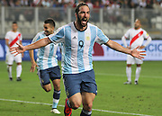Eliminatorias Mundial FIFA Rusia 2018 Peru vs Argentina. Estadio Nacional Lima Peru. 6 de Octubre de 2016