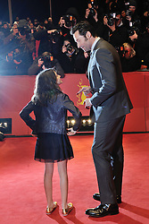 Hugh Jackman and Dafne Keen attending the Logan Premiere during the 67th Berlin International Film Festival (Berlinale) in Berlin, Germany on Februay 17, 2017. Photo by Aurore Marechal/ABACAPRESS.COM