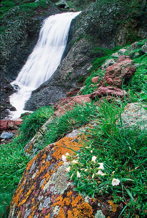 Waterfall near the Village of Kazbgi, Caucasus Mountains, April, The Republic of Georgia 1990