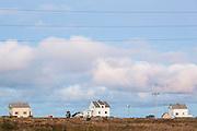 Small homes in Sorland, Vaeroy Island, Lofoten Islands, Norway.