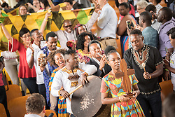 """5 March 2018, Arusha, Tanzania: 5 March 2018 saw the opening celebration of GETI 2018. From 5-13 March 2018, the World Council of Churches organizes a Global Ecumenical Theological Institute (GETI) in Arusha, Tanzania, themed """"Translating the Word, Transforming the World"""". The GETI brings together young theologians from around the world for an intense academic study course in Ecumenical Missiology. GETI 2018 takes place in connection with the Conference on World Mission and Evangelism, also organized in Arusha, Tanzania."""