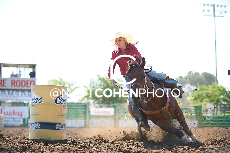 Barrel racer Sami Morisoli of Paso Robles, CA competes at the Livermore Rodeo in Livermore, CA<br /> <br /> <br /> UNEDITED LOW-RES PREVIEW<br /> <br /> <br /> File shown may be an unedited low resolution version used as a proof only. All prints are 100% guaranteed for quality. Sizes 8x10+ come with a version for personal social media. I am currently not selling downloads for commercial/brand use.