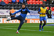 Max Ehmer of Gillingham (5) warming up during the EFL Sky Bet League 1 match between Doncaster Rovers and Gillingham at the Keepmoat Stadium, Doncaster, England on 20 October 2018.