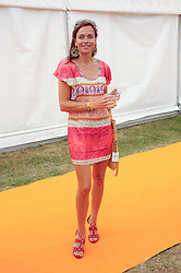 SIOBHAN BARNEY at the Veuve Clicquot Gold Cup polo final held at Cowdray Park, Midhurst, West Sussex on 18th July 2010.