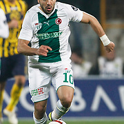 Bursaspor's Volkan SEN during their Turkish soccer super league match Bursaspor between Ankaragucu at Ataturk Stadium in Bursa Turkey on Monday, 21 March 2011. Photo by TURKPIX
