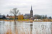 Nederland, Batenburg, 25-2-2020  Panorama op dit dorp , stadje met stadsrechten, aan de Maas .Foto: ANP/ Hollandse Hoogte/ Flip Franssen