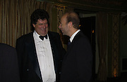 Tim Hoare and Eric Fellner. Chain of Hope 10 th Ball. Dorchester. London. 1 November  2005. ONE TIME USE ONLY - DO NOT ARCHIVE © Copyright Photograph by Dafydd Jones 66 Stockwell Park Rd. London SW9 0DA Tel 020 7733 0108 www.dafjones.com