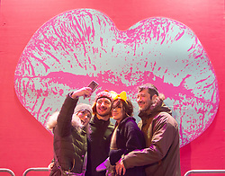Alison Devill, Stephen Deville, Lois Deville. Jordan Deville. Hogmanay in Edinburgh.