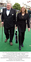 The HON.JOHN & MRS HESKETH at a race meeting in Surrey on 25th April 2003.			PJD 44