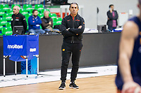 Coach Sergio Scariolo during training session of Spain national team before european qualifiers to World Cup 2019 at Coliseum Burgos in Madrid, Spain. November 26, 2017. (ALTERPHOTOS/Borja B.Hojas)