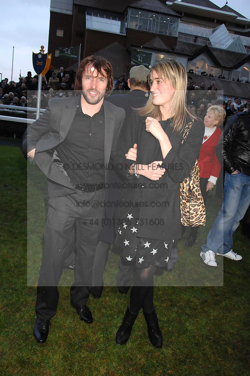 JAMES BLUNT and VIOLET VON WESTENHOLTZ at the 2007 Hennessy Gold Cup held at Newbury racecourse, Berkshire on 1st December 2007.<br /><br />NON EXCLUSIVE - WORLD RIGHTS