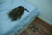 Catia Parry's wig, shoes and brush