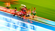Runners compete in heat 1 during the first round of the men's 5,000m at the 2010 European Athletics Championships at the Olympic Stadium in Barcelona on July 29, 2010