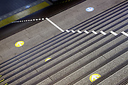 walking direction arrows at a train station Japan Tokyo