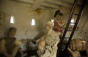Interior reconstruction Eighteenth century loophole 'martello' Rousse tower, Sampson, Guernsey