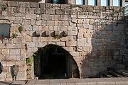 Porto, Portugal, Old City Walls. 14th century hatch that connected the walled city to the harbour pier